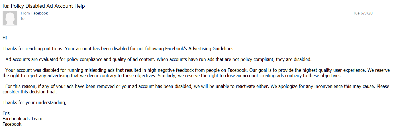 How to prevent your Facebook ad account from being disabled
